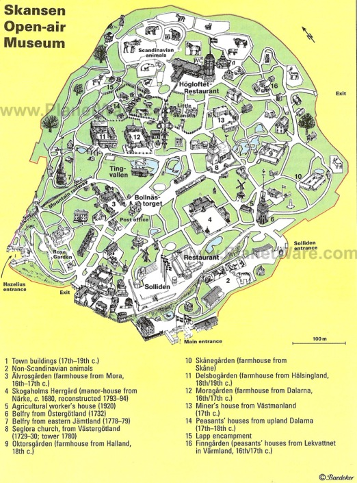 skansen-open-air-museum-map